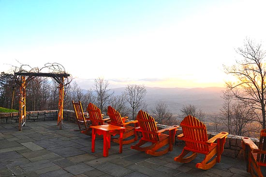 Amicalola Falls Rocking Chair Scenic View