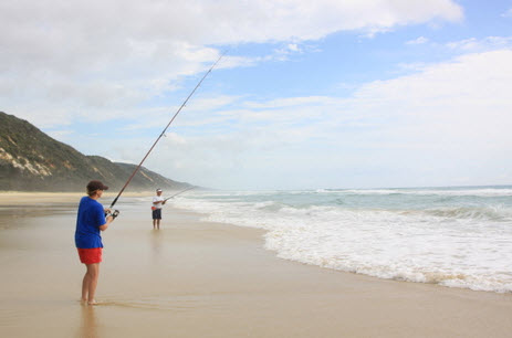 Fishing on the Cooloola Great Walk - Australia