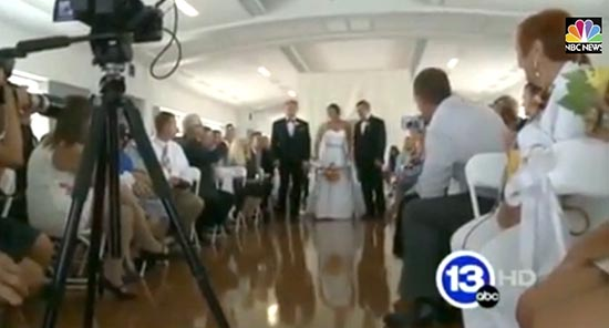 Paralyzed Bride Walks Aisle