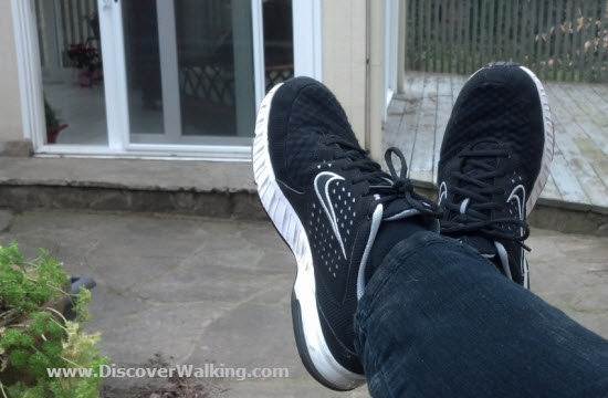 Relaxing After My Morning Walk In Nike Air Miler Walking Shoes