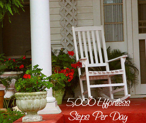 Rocking Chair Pedometer Steps