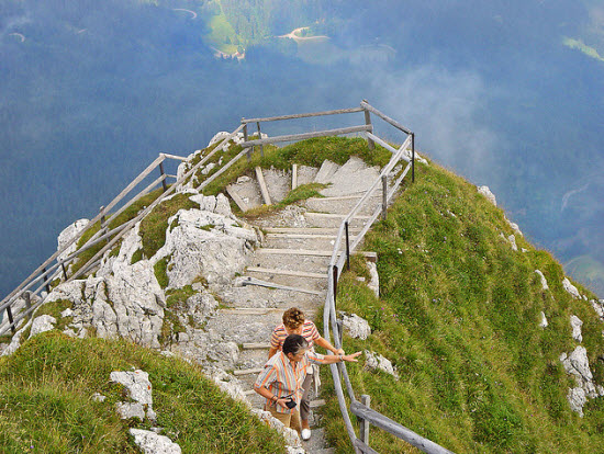 Stair Climbing Pilatus Mountain