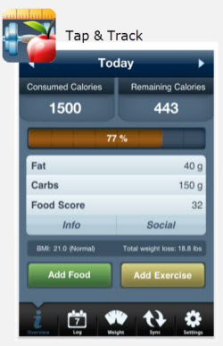 Tap and Track Calories App Review