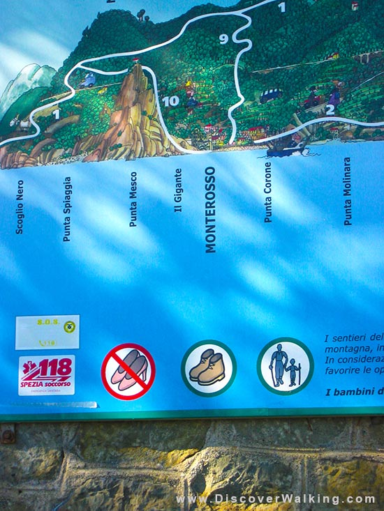 No Hiking in Stilettos Via dell' Amore